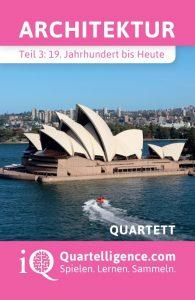 Quartett Architektur Deckblatt Sydney Opernhaus